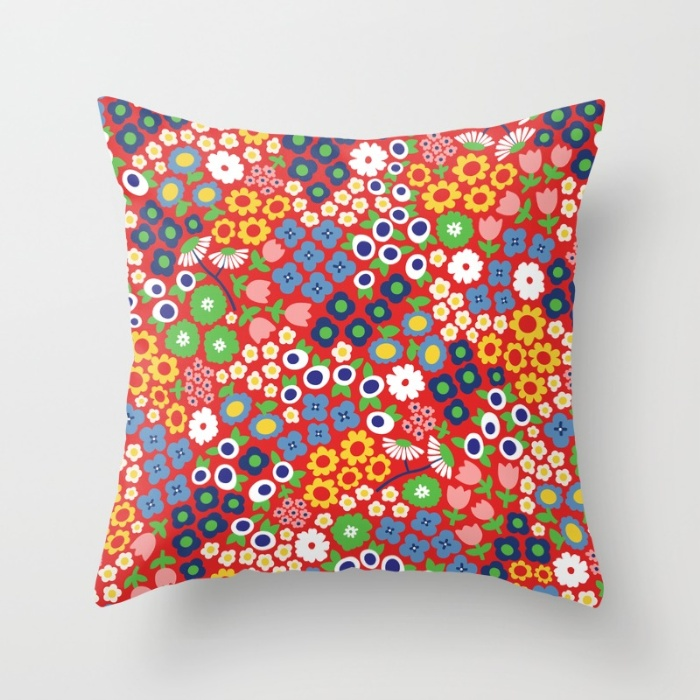 Flower pattern on a cushion mock up