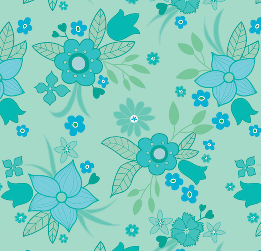 Digital vintage sheet pattern