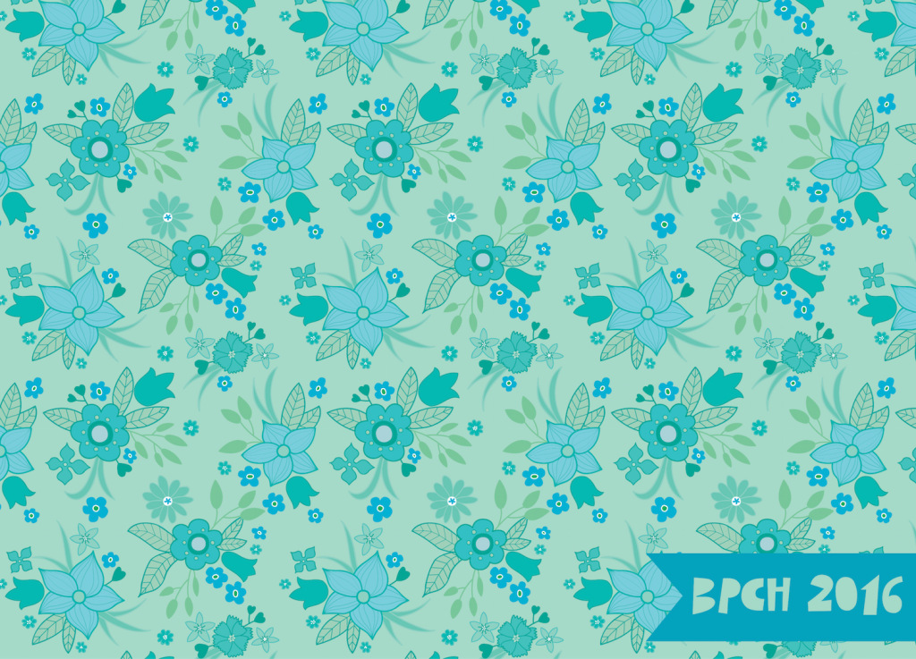 Mint vintage sheet pattern