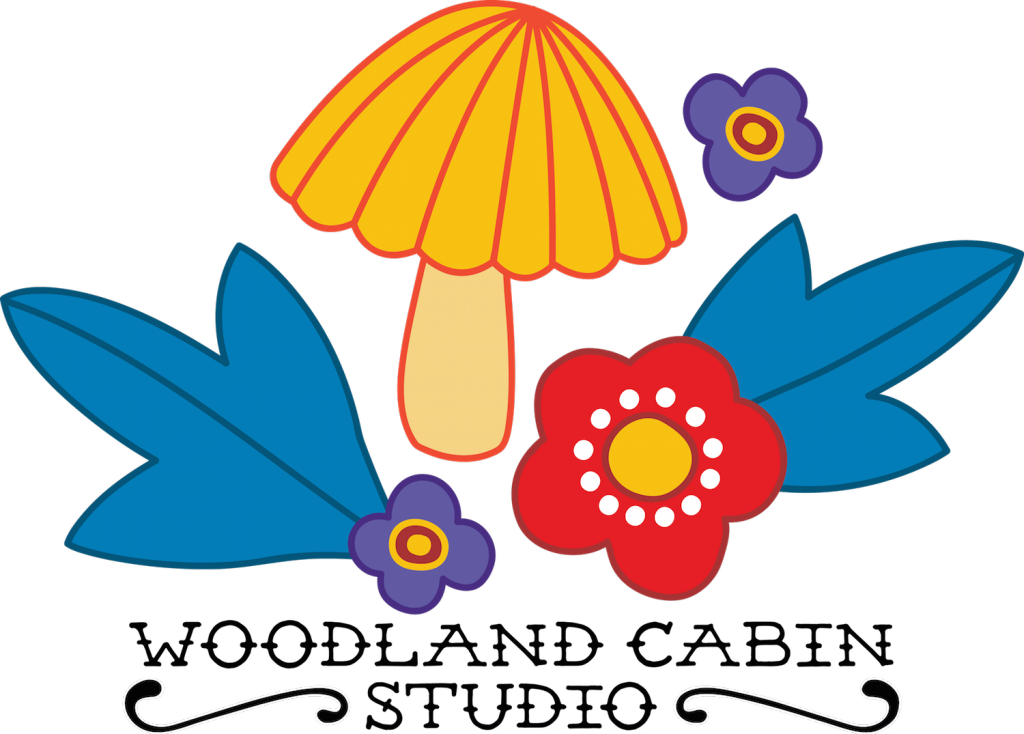 1970s stylised illustration of a mushroom and flowers