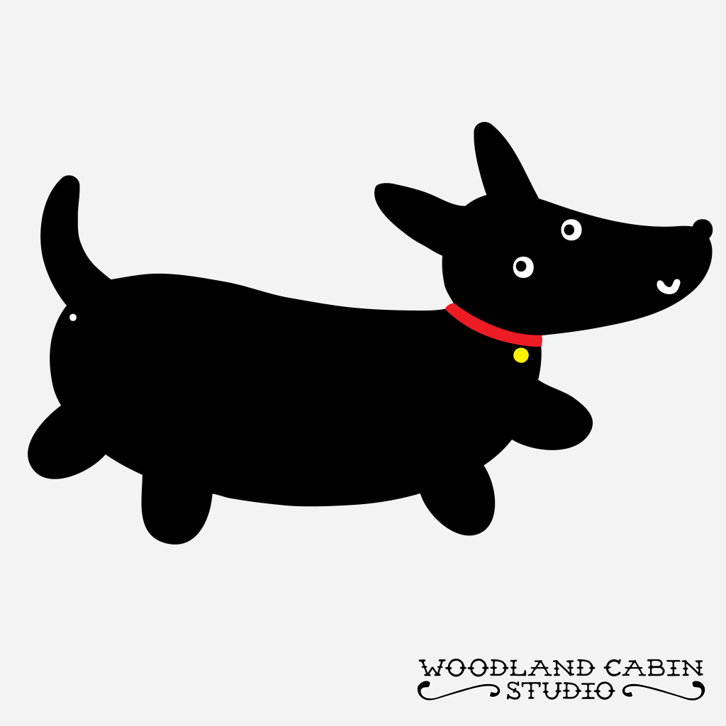Black dog illustration
