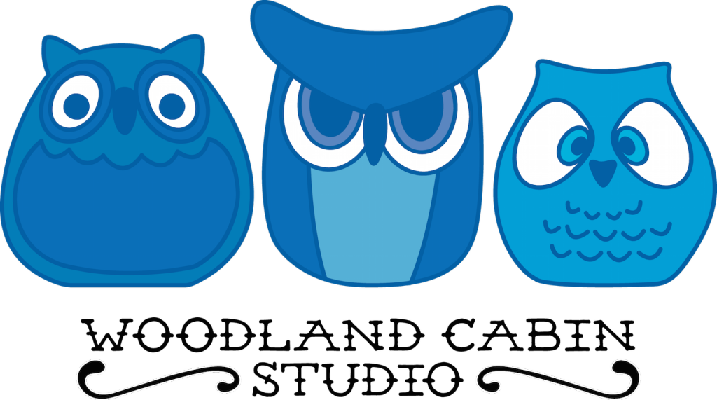 Illustration of blue owls