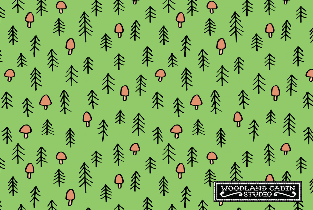 Simple woodland pattern