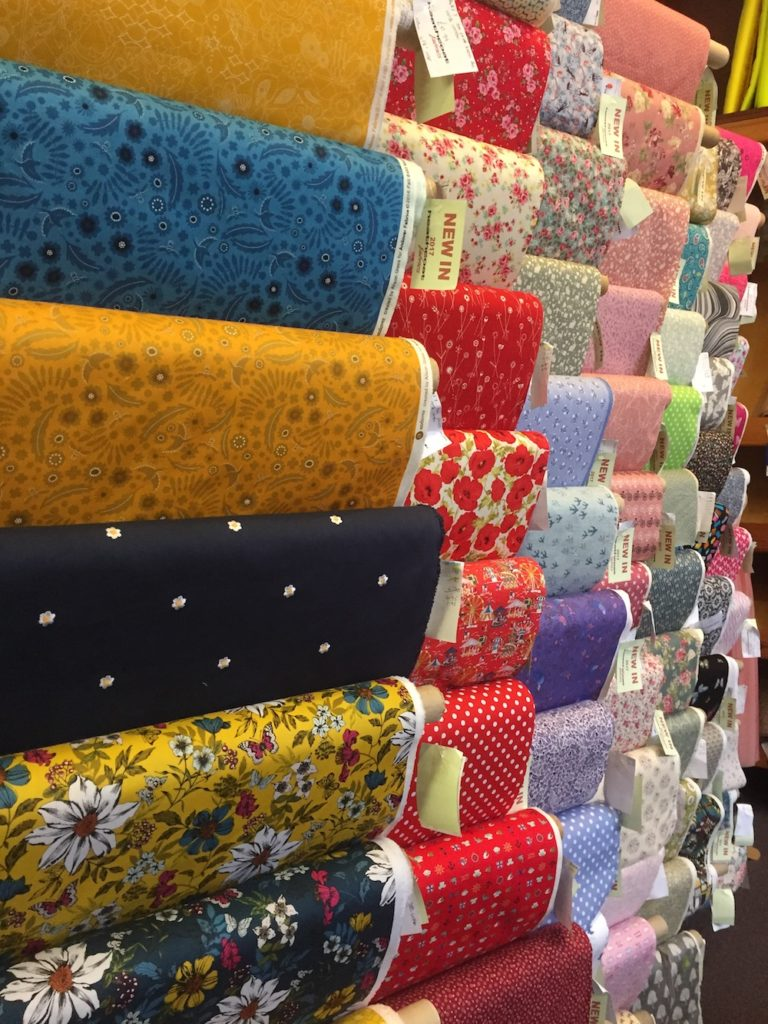 Rolls of cotton fabric
