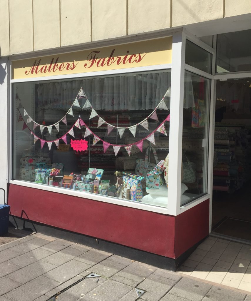 Malbers Fabric shop window