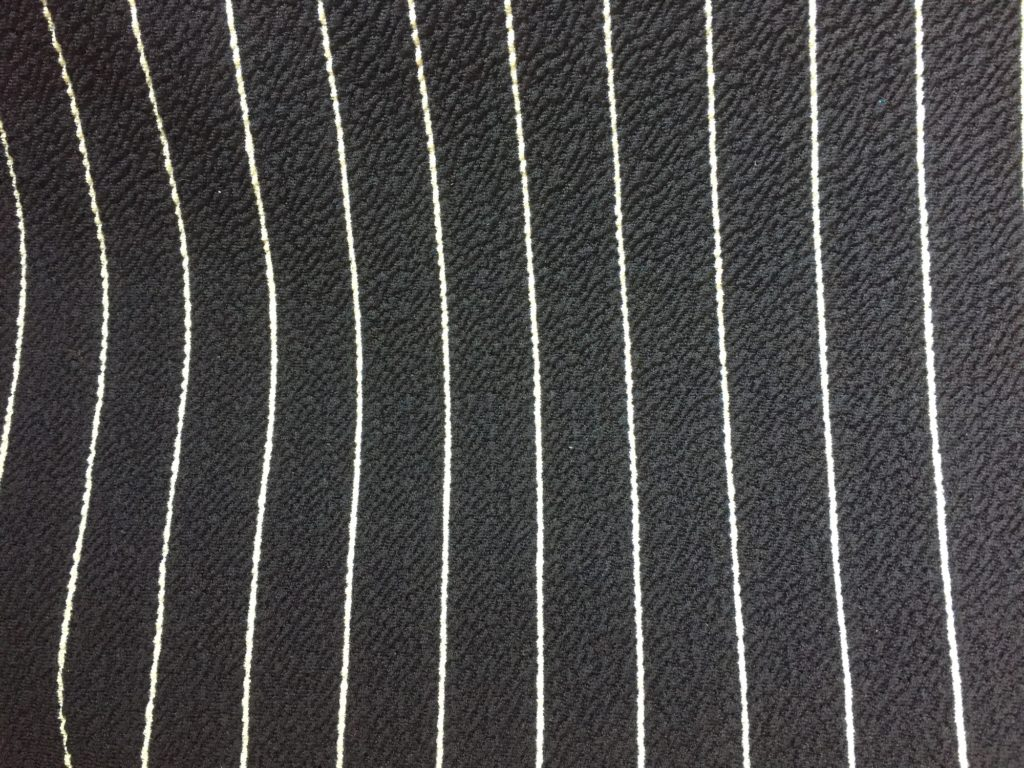 Striped jersey fabric