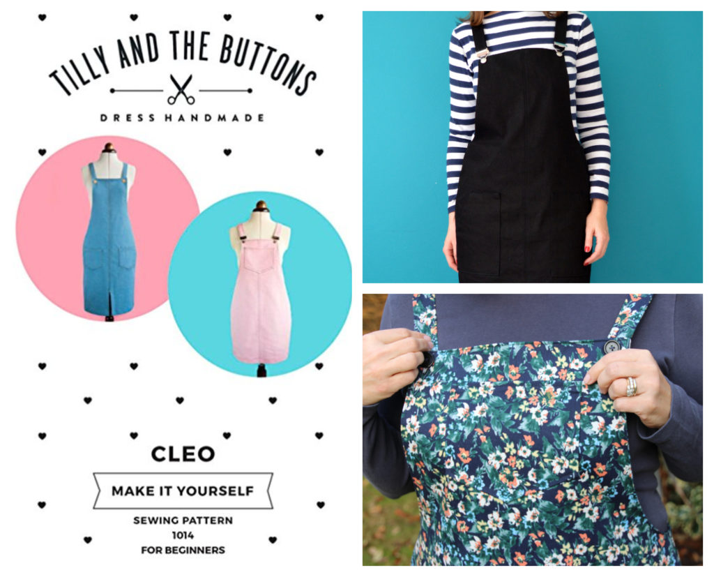 Cleo Pinafore Dress by Tilly and The Buttons