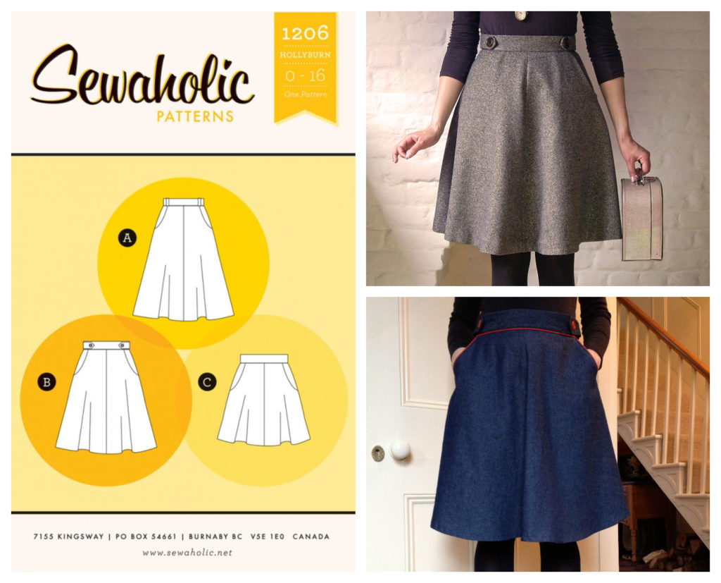 Hollyburn skirt sewing pattern