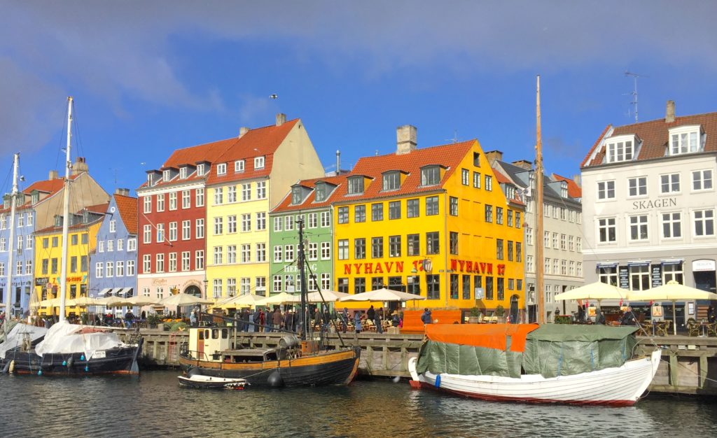 Colourful bars and restaurants along Nyhavn Copenhagen