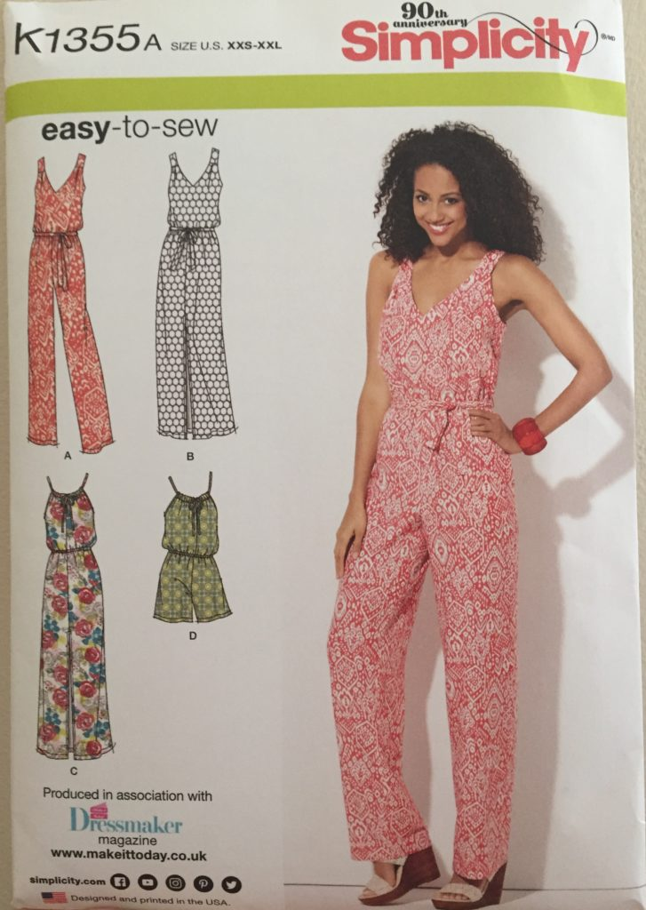 Simplicity jumpsuit sewing pattern