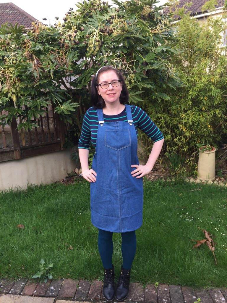Denim Tilly and The buttons Cleo pinafore dress